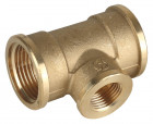 "Тройник GENERAL FITTINGS переходной, латунь, г/г/г, 1""-1/2""-1"",  ( 51061-1-1/2-1 )"