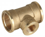 "Тройник GENERAL FITTINGS переходной, латунь, г/г/г, 3/4""-1/2""-3/4"",  ( 51061-3/4-1/2-3/4 )"